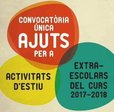 CONVOCATORIA D'AJUTS- ACTIVITATS EXTRAESCOLARS 2018-19 I ACTIVITATS D'ESTIU AL PRAT